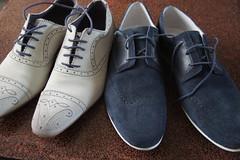 shoes bleu white (peetje2) Tags: wedding white shoes watch bleu button match weddingshoes suedes