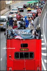Avengers on the bus (Bigmuse) Tags: china street hk man bus cars car america photography hongkong iron voiture coche captain bil carro vehicle    sar avengers cotxe     bigmuse
