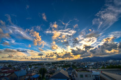 it's been a while... (1/4th) Tags: blue sunset sun japan clouds landscape nikon wideangle tokina hdr isehara photomatix itsbeenawhile d7000 tokina1116mmf28