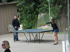 Ping pong by the river