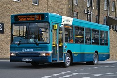 1625 LF52UOK Transbus Dart SLF Mini Pointer on its first day in service with Arriva Medway Towns, Chatham (google_wayne) Tags: bus london ex buses former towns medway arriva pdl74