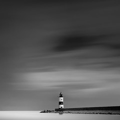 Lotseninsel VI (Explored) (MichelleWhy - Stefanie Loges) Tags: sea lighthouse white seascape black water monochrome long exposure mood baltic nd ostsee schwarz stefanie stimmung langzeitbelichtung schleswig weis schlei leuchturm loges schleimnde lotseninsel michellewhy