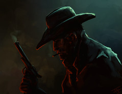 Lawless (Legohaulic) Tags: photoshop paint western outlaw lawless speedpaint