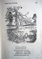 Tiddle-iddle, tiddle-iddle... (Lise Petrauskas) Tags: bear original usa art illustration vintage portland photography book photo blackwhite artist drawing or bears photograph winniethepooh childrensbook authentic hardcover aamilne ehshepard lisepetrauskas