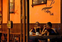 Monks At Cafe Coffee Talk. (Sidhu Photography) Tags: cafe monk tibet monks lama tibetan bodhi mcleodganj monkscafe budhhist littlelhasa tsuglagkhangtemple