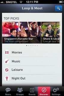 SingTel's Loop & Meet App