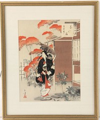 68. Japanese Woodblock of Geisha