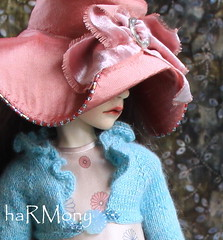"""haRMony Debut Fashion by Robbin Atwell & Monica Cooper **Persimmon and Sea"""" (Robbin With 2 Bs) Tags: doll handmade harmony bjd abjd debut jointed balljointeddoll dollstown 7year seola monicacooper robbinatwell"""
