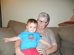 Leo (11 months) and Gram