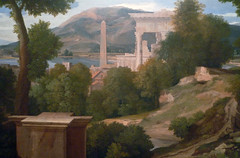 Poussin, Landscape with Saint John on Patmos, detail with middle ground