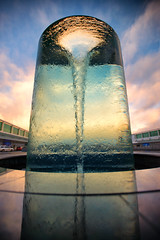 In a stir (Pat Charles) Tags: canberra act australia airport glass sculpture art morning early dawn clouds sky travel tourism australiancapitalterritory nikon swirl stir spin twirl vortex rotate turn water whirlpool drain empty coriolis effect rotating turning spinning twisting