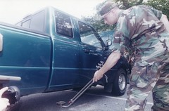 Vehicle Inspection (Ga. Guard History) Tags: olympigamessummerolmpicgamesgeorgianationlguard nationalguard georgiahistory georgiamilitaryhistory nationalguardimages nationalguardhistory domesticsupporttocivilauthorities summer olympics olympicgames centennialolympicgames summerolympics 1990s