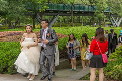 here comes the bride (stevefge) Tags: china shanghai people candid park brides groom family wedding girls reflectyourworld