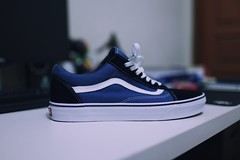 Next victim (Akmal Shihab) Tags: waffle skateboard skate otw offthewall shoes indigo navy blue sneakers sneaker vans