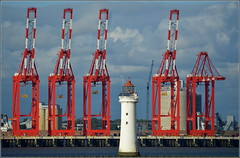 Liverpool Two & Fort Perch Rock Lighthouse 4th August 2016 (Cassini2008) Tags: liverpooltwo wirral cityofliverpool portofliverpool peelports fortperchrocklighthouse newbrighton liverpooldeepwatercontainerterminal