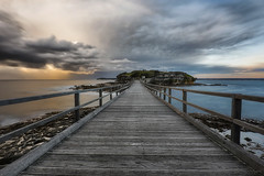 Stairway To... (Crouchy69) Tags: sunrise dawn landscape seascape ocean sea water coast rocks clouds sky bridge path wooden bare island la perouse sydney australia