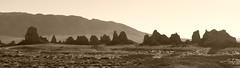 Trona Pinnacles #13 (jimsawthat) Tags: sepia hoodoos tronapinnacles erosion geology tufa highdesert rural ridgecrest california