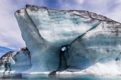 Peephole (spwasilla) Tags: hole blue alaska glacier ice