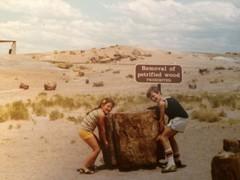 Happy birthday, NPS (KFiabane) Tags: petrifiedforest arizona 1980s jason krista nps100