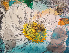 DSC0966881 (scott_waterman) Tags: scottwaterman painting paper ink watercolor gouache lotus lotusflower