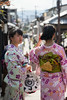 Maikos going shopping (HansPermana) Tags: kyoto japan gion traditional city cityscape kimono geisha geiko maiko culture cultural dresses colorful