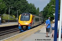 222001 passes Belper, 15/8/16 (hurricanemk1c) Tags: railways railway train trains 2016 emt eastmidlandstrains class222 class2220 meridian bombardier belper 222001 1c45 1229sheffieldlondonstpancras