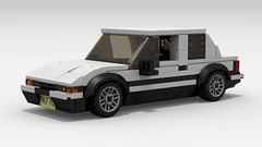 Toyota AE86 (LegoGuyTom) Tags: toyota japanese japan 1980s ae86 hatchback hatch back drift drifter race racer racing famous classic vintage lego ldd legos digital designer city car cars coupe dropbox download pov