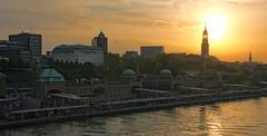 Sunrise in the harbour of Hamburg (pe_ha45) Tags: hamburg sunrise harbour hafen sonnenaufgang
