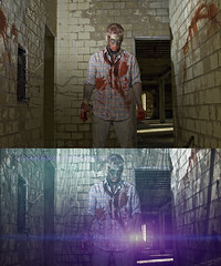 Before and After - Photoshop Editing (The BenMiller) Tags: editing example before after b4 photoshop cs4 adobe detail klf knoll light factory lens flare lensflare zombie halloween cinematic nikon d200 abandoned wisconsin wi gresham