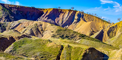 Colored Hills (undernature) Tags: kurdistan landscape mountain nature panasonicgf1 panorama