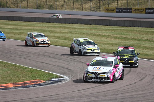 Josh Price in the Clio Cup at Rockingham, August 2016