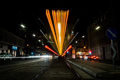 Reiseziel (KatonaPhotography) Tags: fahren bim strasenbahn tram villamos nusdorf wien winer linie light lights dark verkehr