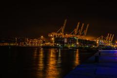 luka koper at night (roksturm) Tags: luka koper port slovenia night d3200 18200 tamron obala capodistria sea