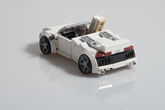 "Tony Stark's Audi R8 Spyder (from ""Iron Man 2"") (Velocites) Tags: audi r8 spyder lego moc iron man"