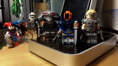 N52 Squad members. (LordAllo) Tags: lego dc suicide squad new 52 brickforge unknown soldier black manta deathstroke wild dog