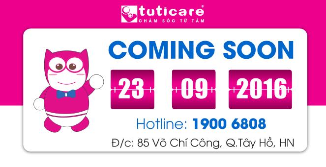 [TutiCare Hà Nội] Sắp khai trương showroom TutiCare 85 Võ Chí Công,Tây Hồ, HN