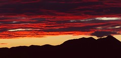 Tri-color sunset (jimsc) Tags: sunset sundown skyscape westernskyskycolors evening skyshow eveningsky endofday red black tan monsoon summer september ngc cloud desert sonorandesert arizona pimacounty tucson catalina panasonic lumix fz200 jimsc