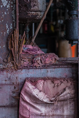 Red and Rust (Skier1437) Tags: canon abandoned urbex urban exploration eastcoast decay urbandecay mill buildling textile textilemill fabric sheets sheet industry abandonedindustry factory industrialrevolution industrial red bag split falling