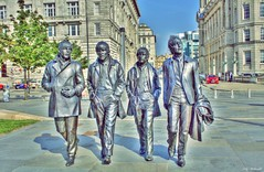 The Fab Four (Billy McDonald) Tags: hdr thefabfour thebeatles statues liverpool