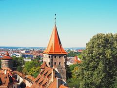 Nurembeg from the Kaiserburg (Digidoc2 - BACK) Tags: nuremberg germany cityscape landscape buildings towers trees sky blue architecture
