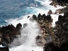 DSC03591 (Kate Hedin) Tags: ocean black beach water rock island hawaii lava big sand fields hilo aa basalt olivine pahoehoe