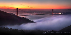 Morning Peace (Andrew Louie Photography) Tags: sf california bridge winter sun love coffee fog canon photography 50mm golden gate san francisco peace jazz andrew panoramic tango passion louie rise