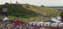 Hadleigh Farm (Peter J Dean) Tags: camera london sport action crowd games canoneos20d course crosscountry mtb xc olympics spectators mountainbiking essex toilets bigscreen london2012 canonef1635mmf28liiusm hadleighfarm