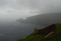 Stormy Hermaness (Wrinzo) Tags: sea storm rain clouds islands scotland europa europe nuvole atlantic pioggia shetland oceano atlantico tempesta unst scozia isole hermaness