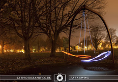 Park Swing (xyzphotography) Tags: england night dark photography unitedkingdom britain leicester sl lonely losted slowshutterspeed noctural
