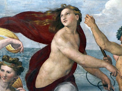 Raphael, Galatea, detail with Galatea close