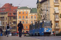Most Pomorski (J. Piecuch) Tags: tram most streetcar mpk wrocaw pomorski pomorska konstal 105na