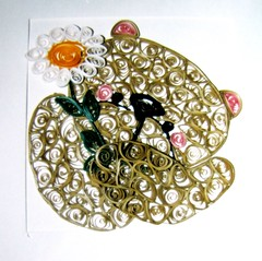 For a friends 18th Birthday (yorkshirelass49) Tags: teddy handmade crafts bears homemade daisy filigree quilling paperstrips