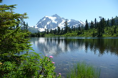 Mount Shuksan on a summer day (edenseekr) Tags: lake reflection mount wa shuksan