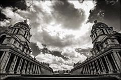 UK - London - Greenwich - Old Royal Naval College - Dramatic vista - sepia (Darrell Godliman) Tags: uk greatbritain travel england sky blackandwhite bw copyright cloud building london tourism monochrome sepia architecture clouds skyscape mono europe britishisles unitedkingdom britain greenwich dramatic eu symmetry gb vista wren christopherwren toned tinted cloudscape europeanunion axis allrightsreserved navalcollege architecturalphotography travelphotography oldroyalnavalcollege instantfave omot travelphotographer flickrelite dgphotos darrellgodliman wwwdgphotoscouk architecturalphotographer dgodliman royalgreenwich royalboroughofgreenwich uklondongreenwicholdroyalnavalcollegedramaticvistasepiadsc7302 greewichnavalcollege not5000